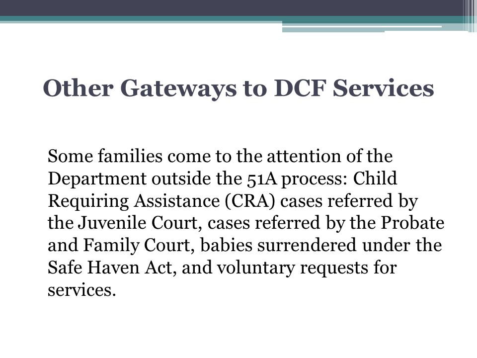 Other Gateways to DCF Services