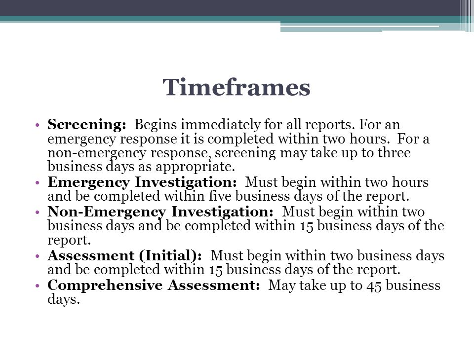 Timeframes