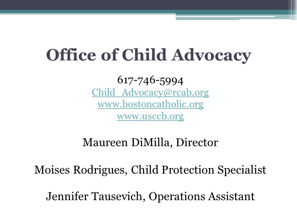 Office of Child Advocacy