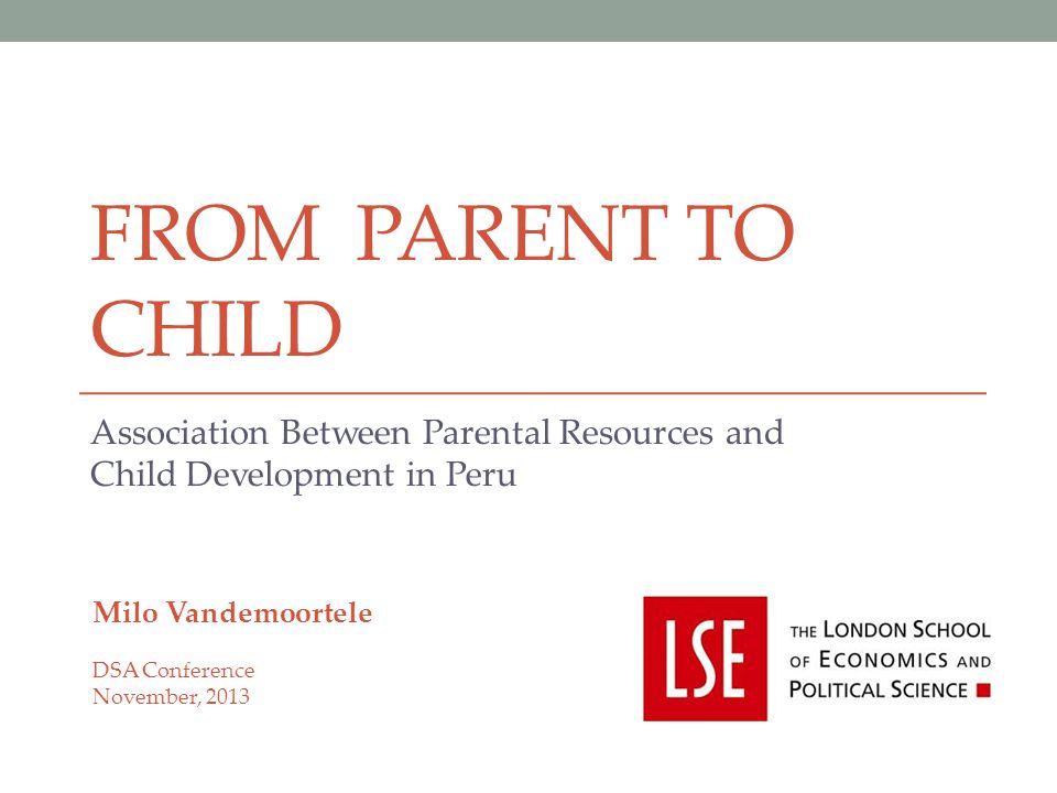 Association Between Parental Resources and Child Development in Peru