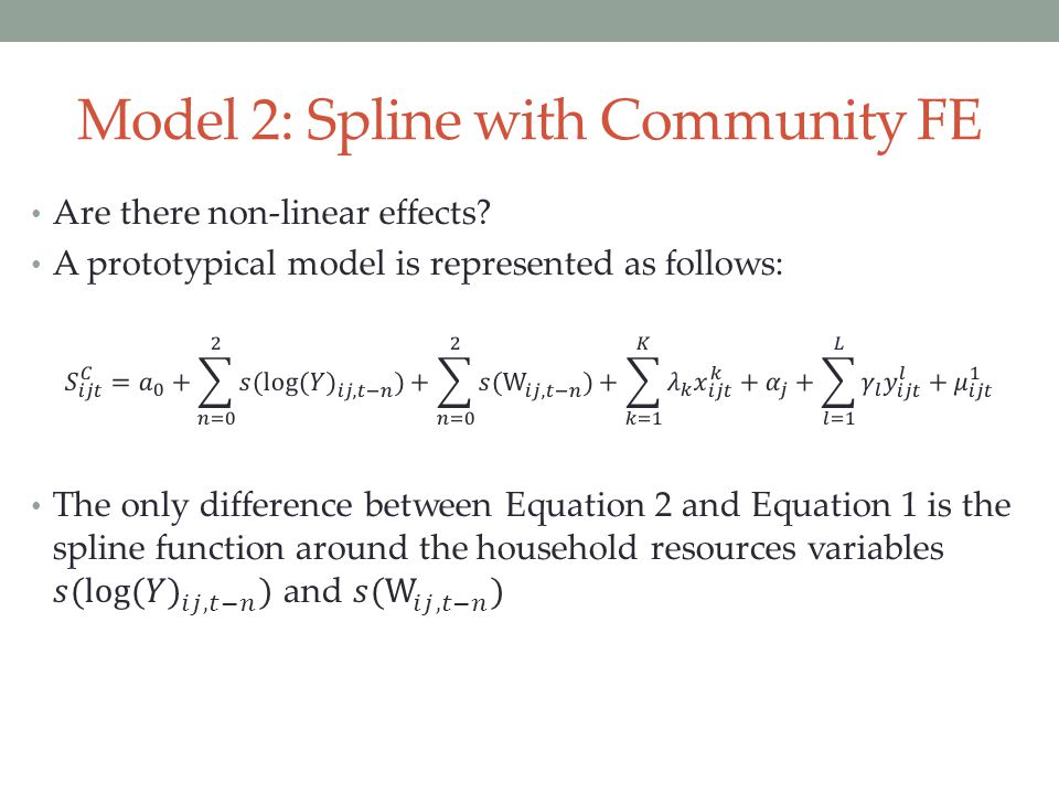 Model 2: Spline with Community FE