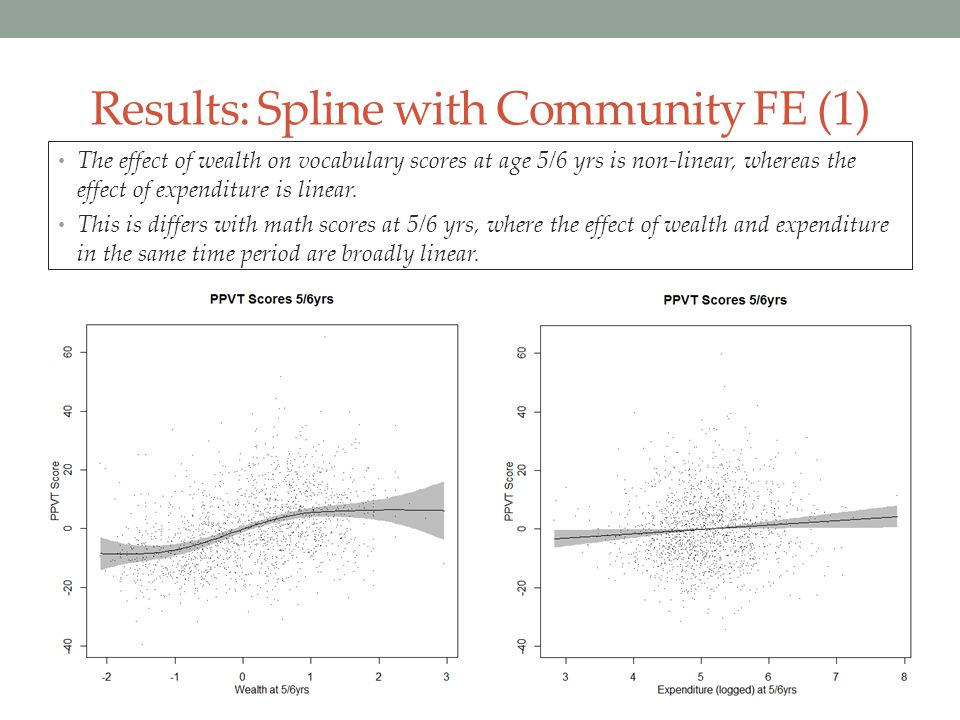 Results: Spline with Community FE (1)