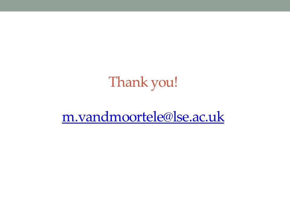Thank you! m.vandmoortele@lse.ac.uk