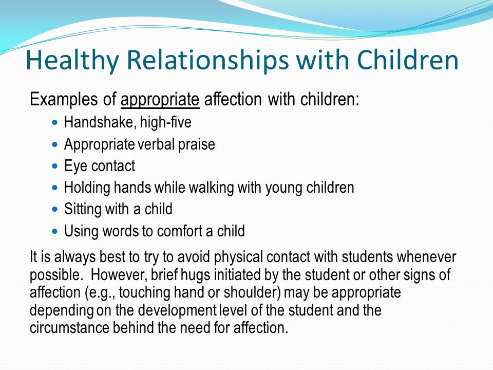 Healthy Relationships with Children