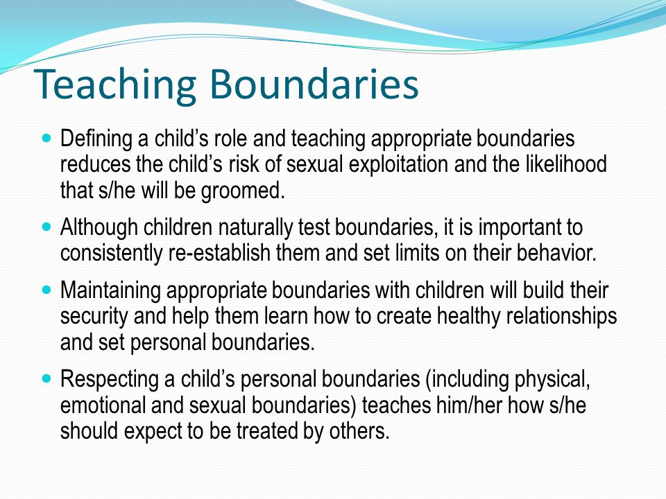 Teaching Boundaries