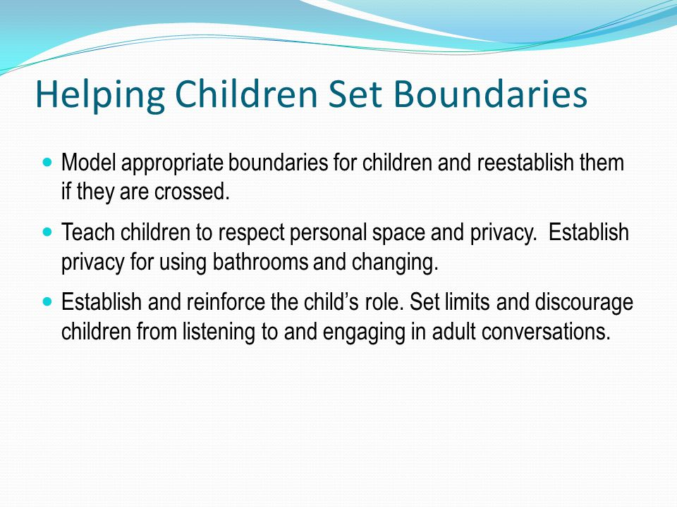 Helping Children Set Boundaries