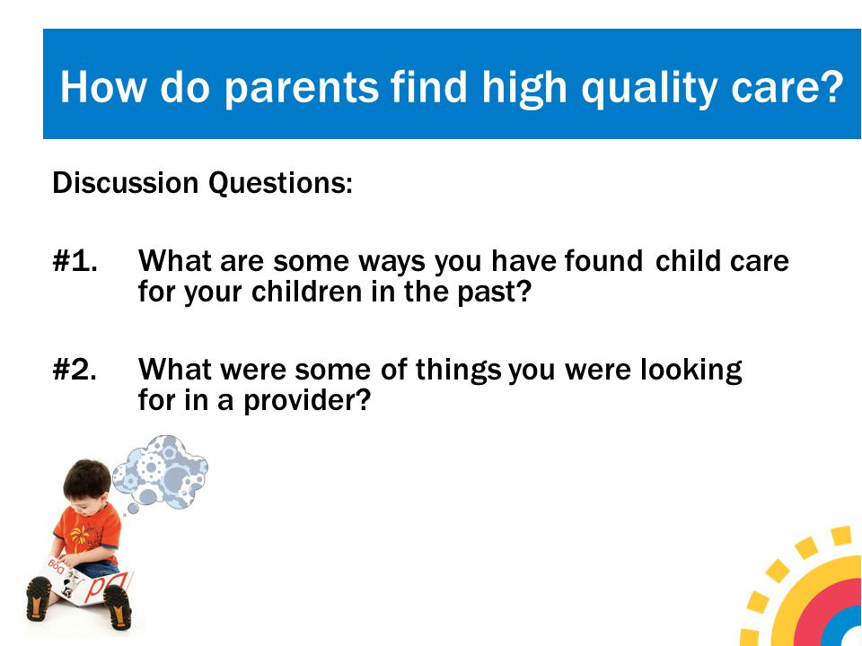 How do parents find high quality care