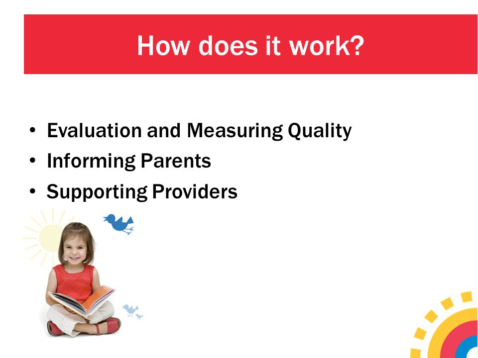 How does it work Evaluation and Measuring Quality Informing Parents