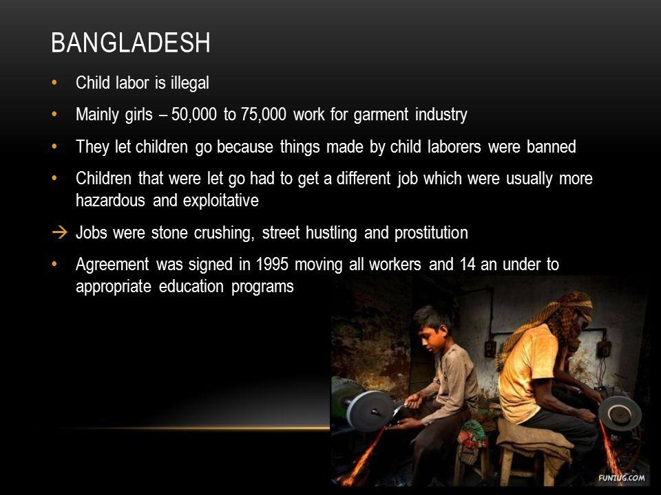 Bangladesh Child labor is illegal