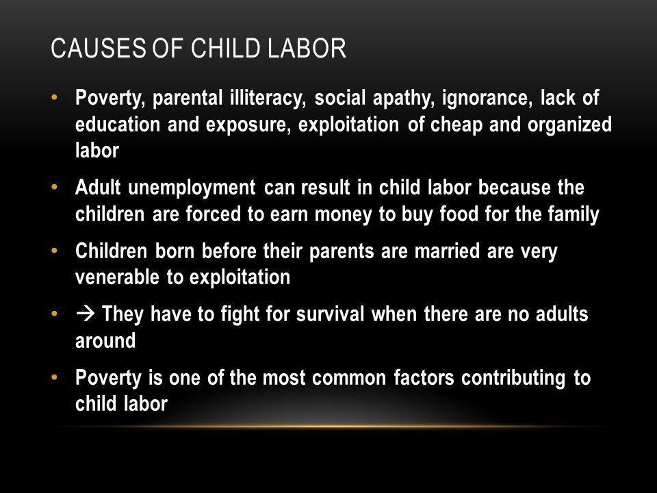 Causes of child labor