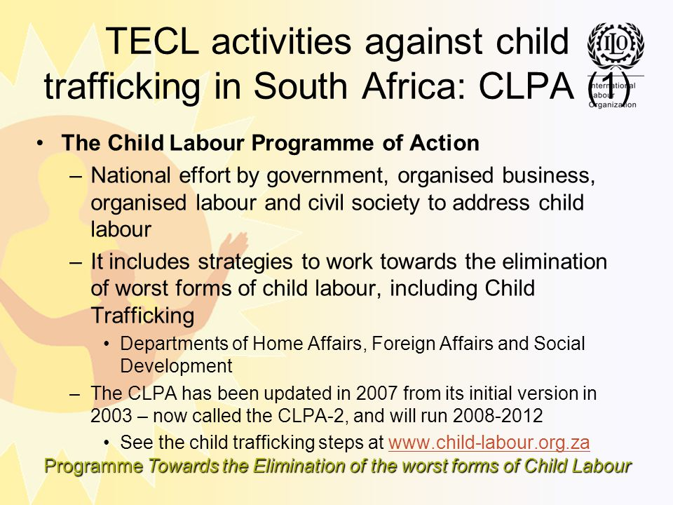TECL activities against child trafficking in South Africa: CLPA (1)
