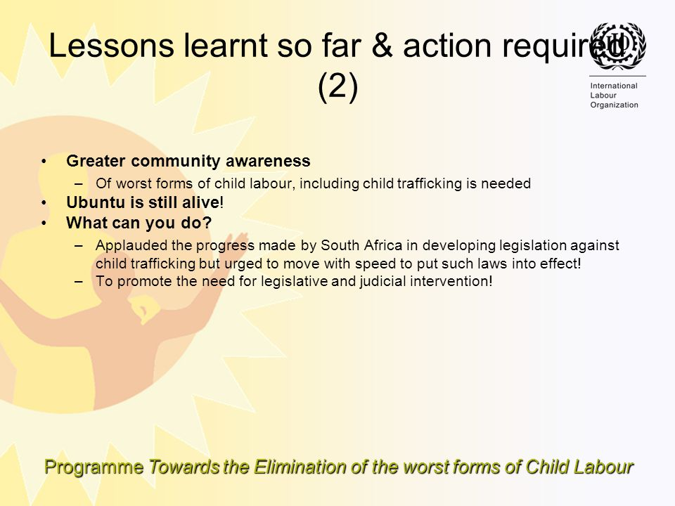 Lessons learnt so far & action required (2)
