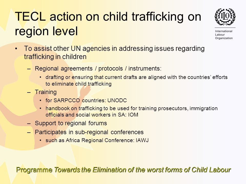 TECL action on child trafficking on region level