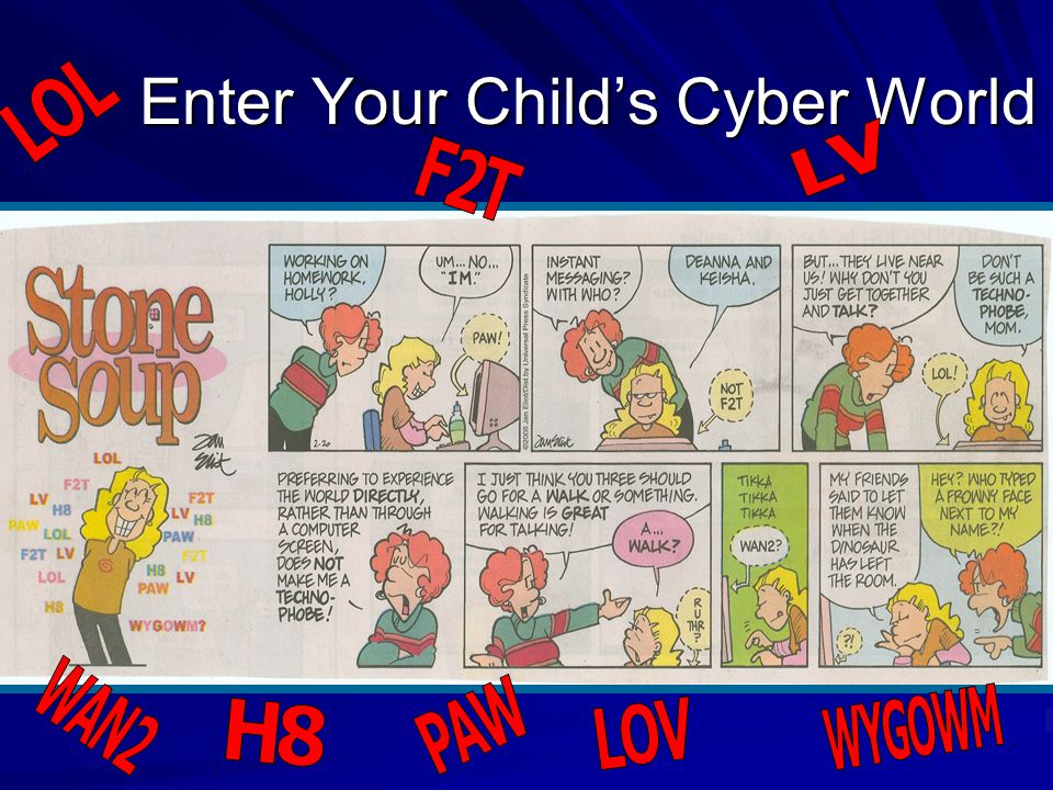 Enter Your Child's Cyber World