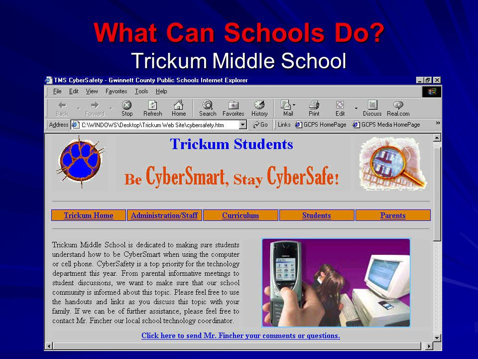 What Can Schools Do Trickum Middle School