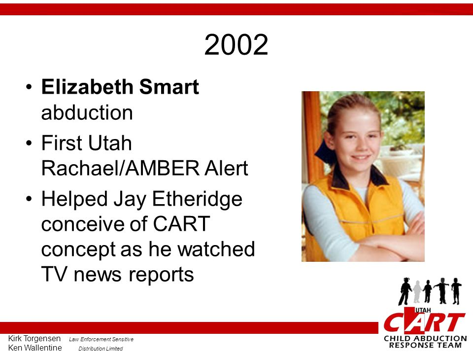 2002 Elizabeth Smart abduction First Utah Rachael/AMBER Alert