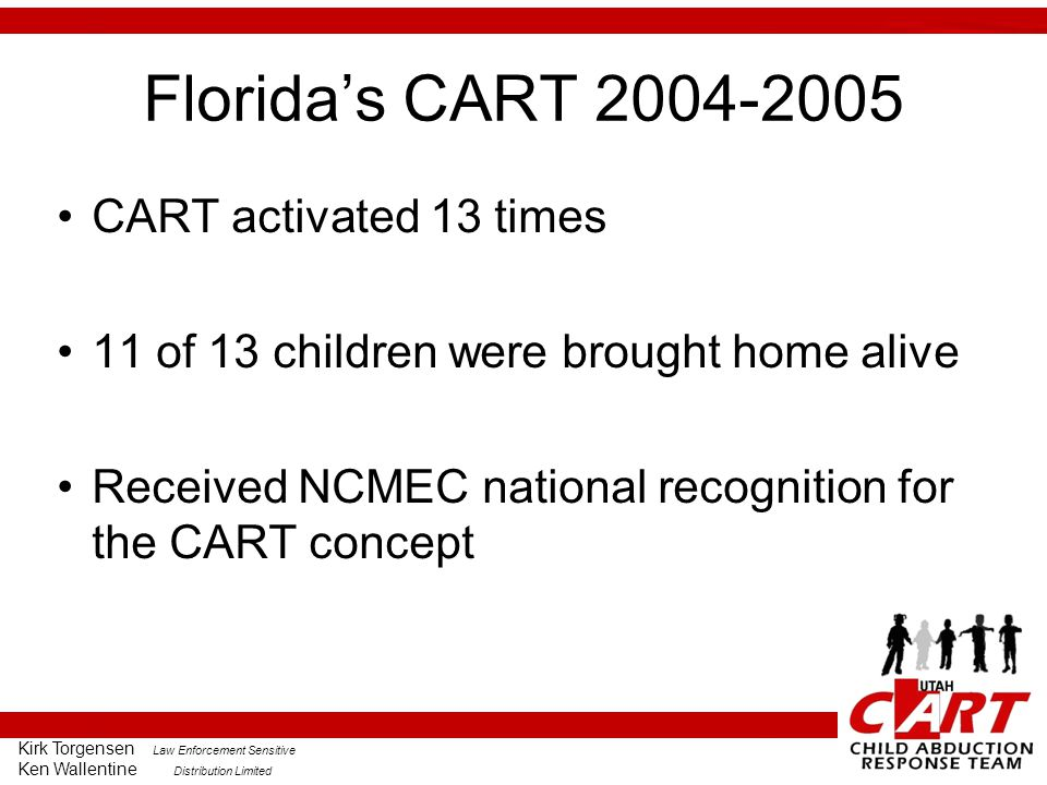 Florida's CART 2004-2005 CART activated 13 times