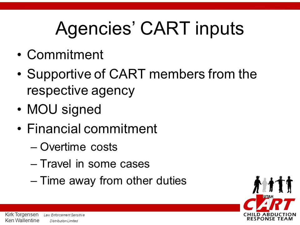 Agencies' CART inputs Commitment
