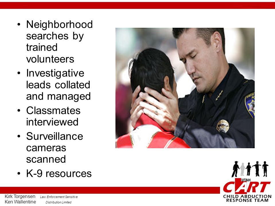 Neighborhood searches by trained volunteers