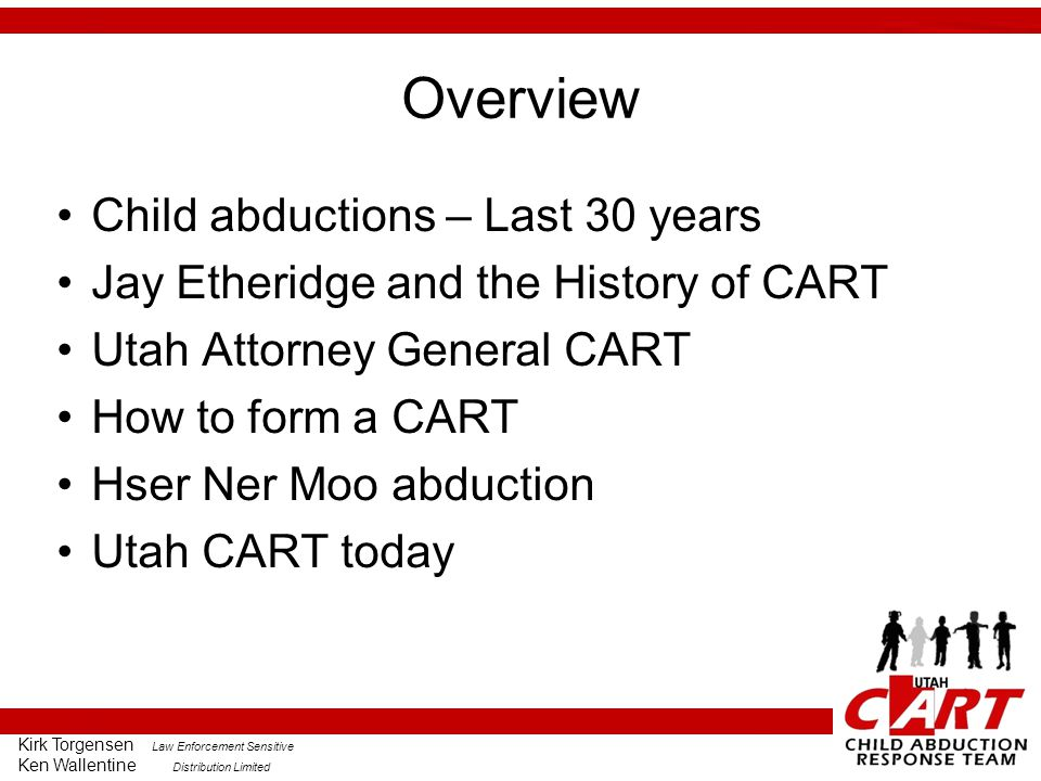 Overview Child abductions – Last 30 years