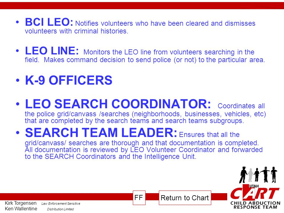 BCI LEO: Notifies volunteers who have been cleared and dismisses volunteers with criminal histories.