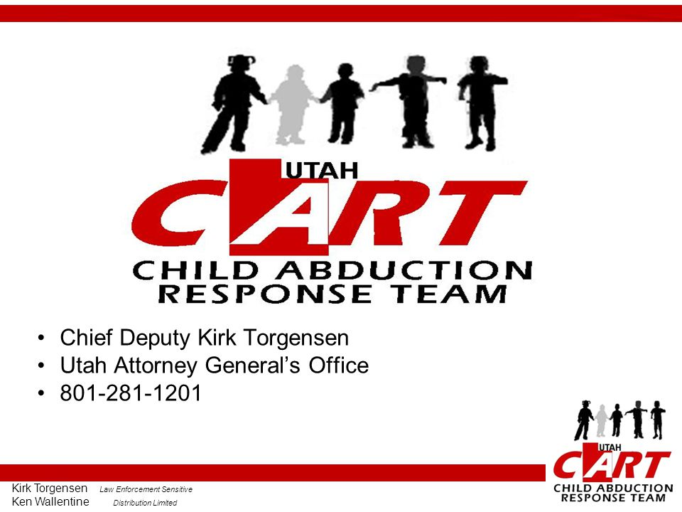 Chief Deputy Kirk Torgensen Utah Attorney General's Office