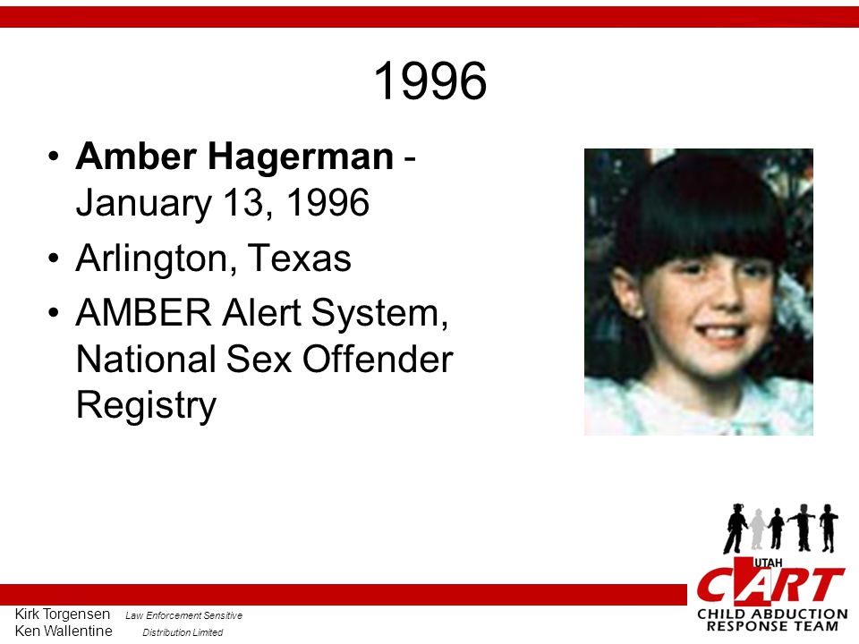 1996 Amber Hagerman - January 13, 1996 Arlington, Texas
