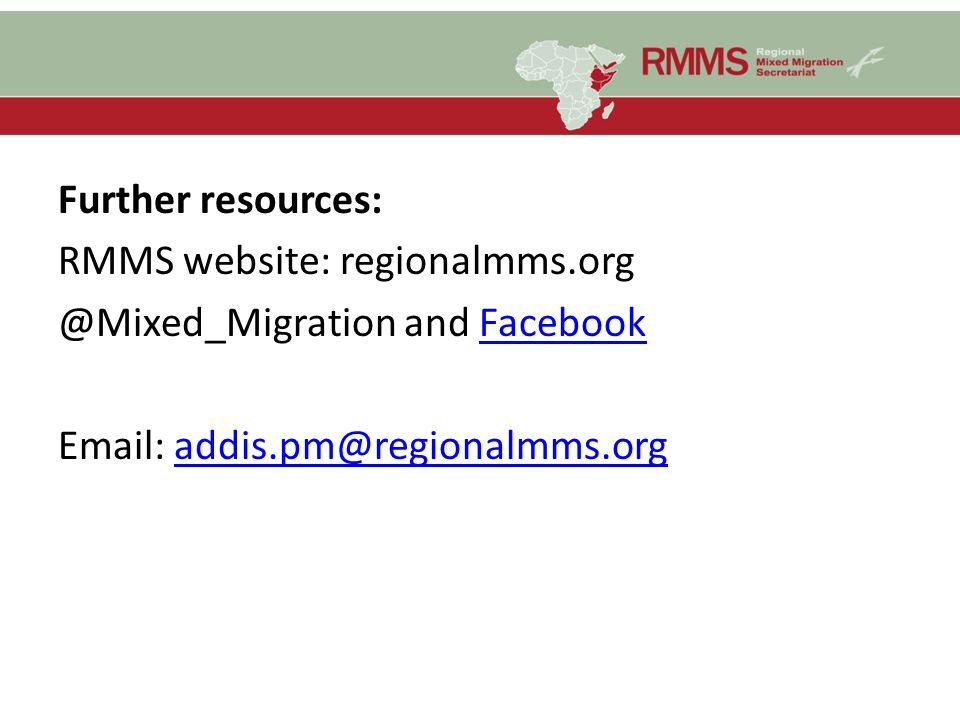 Further resources: RMMS website: regionalmms