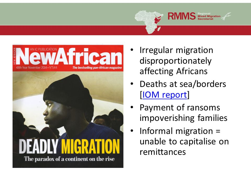 Irregular migration disproportionately affecting Africans