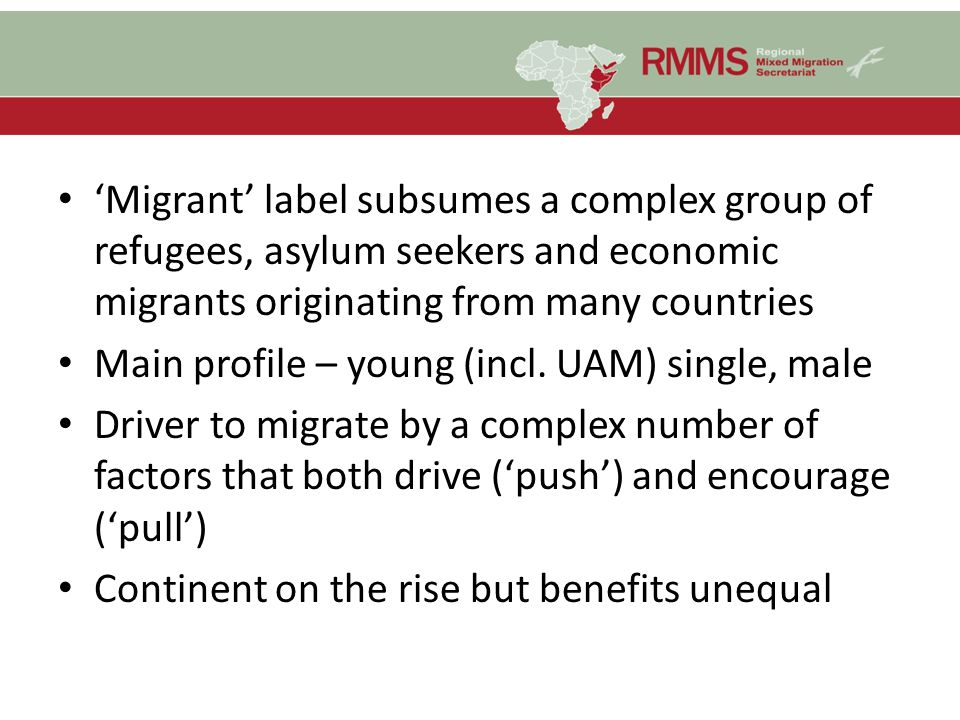 'Migrant' label subsumes a complex group of refugees, asylum seekers and economic migrants originating from many countries