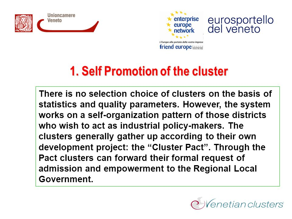 1. Self Promotion of the cluster