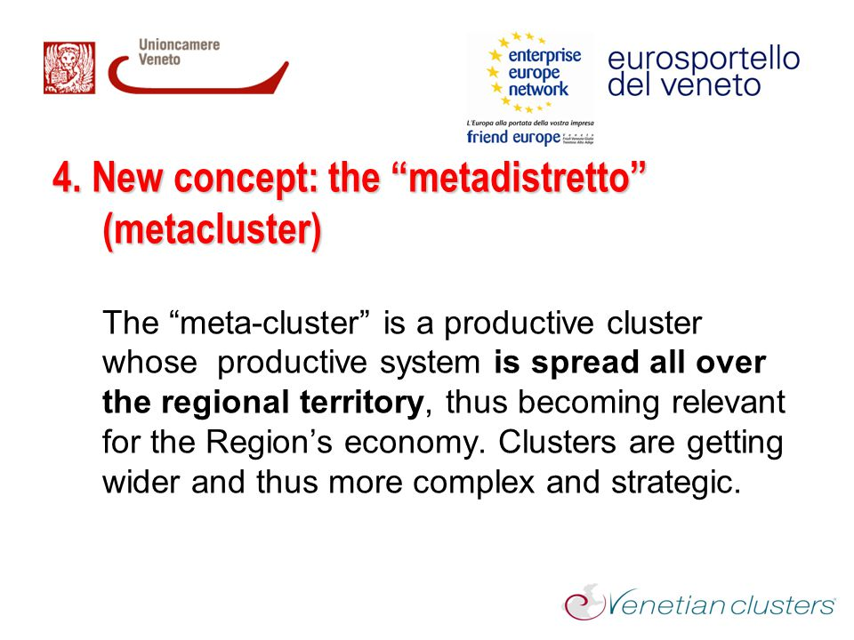 4. New concept: the metadistretto (metacluster)