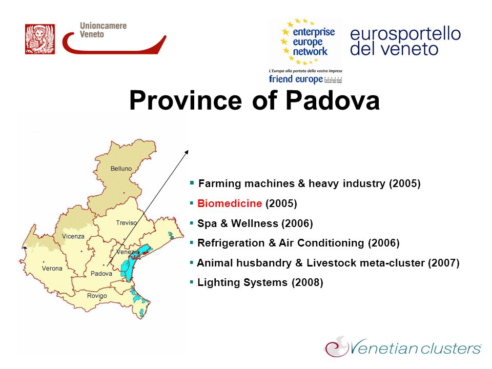 Province of Padova Farming machines & heavy industry (2005)