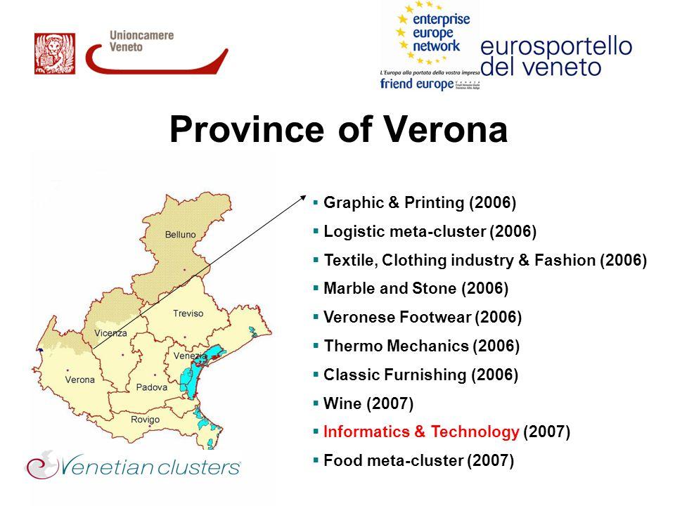 Province of Verona Logistic meta-cluster (2006)