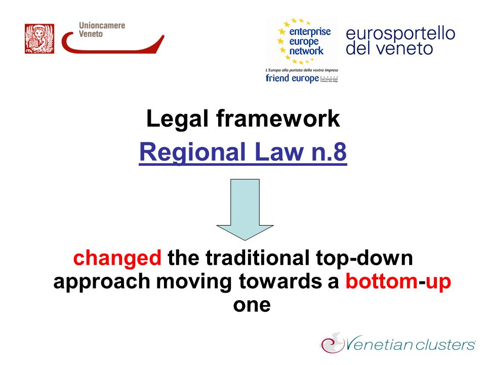 Regional Law n.8 Legal framework