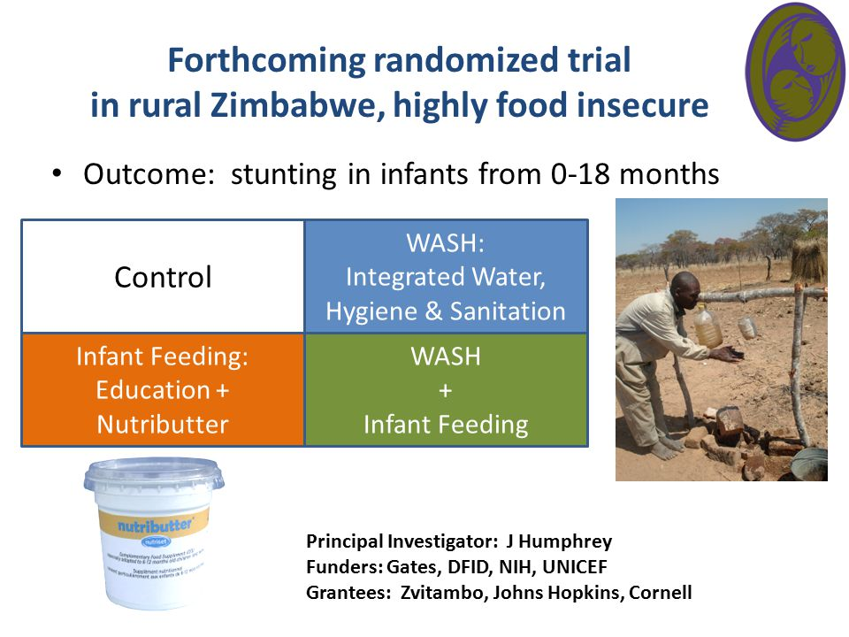 Forthcoming randomized trial in rural Zimbabwe, highly food insecure