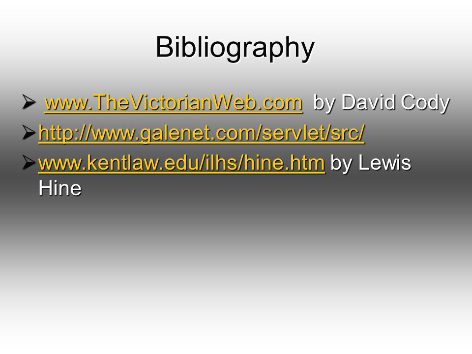 Bibliography www.TheVictorianWeb.com by David Cody