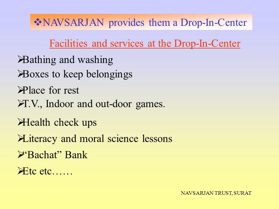 NAVSARJAN provides them a Drop-In-Center