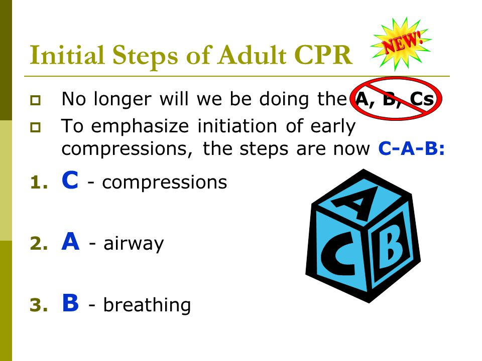 Initial Steps of Adult CPR