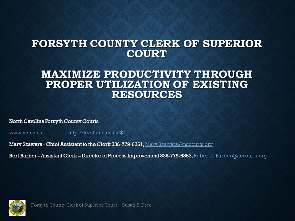Forsyth County Clerk of Superior Court