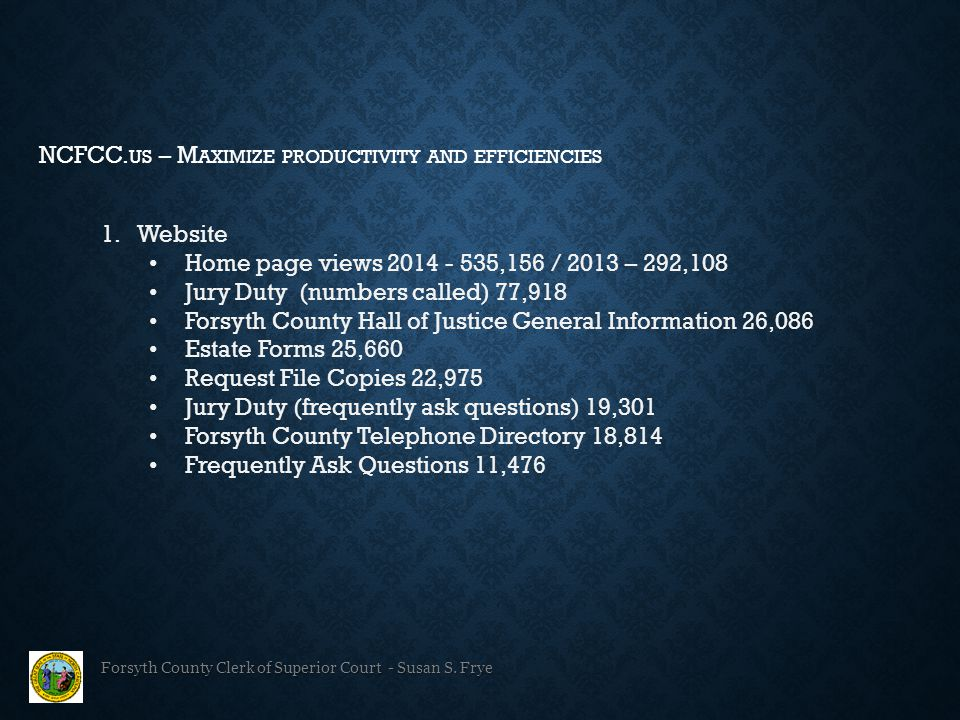 NCFCC.us – Maximize productivity and efficiencies
