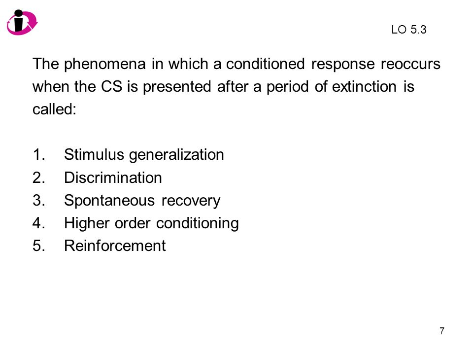 The phenomena in which a conditioned response reoccurs