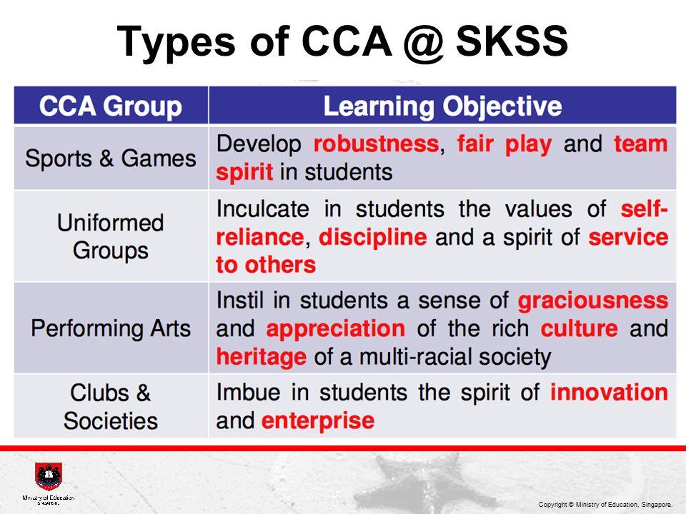 Types of CCA @ SKSS