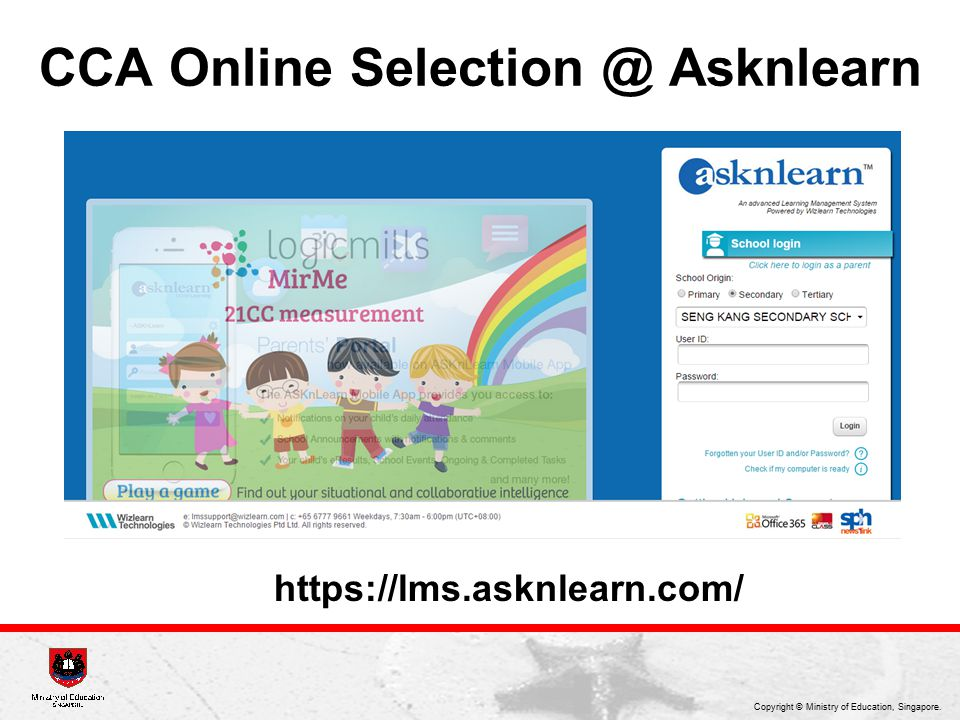 CCA Online Selection @ Asknlearn