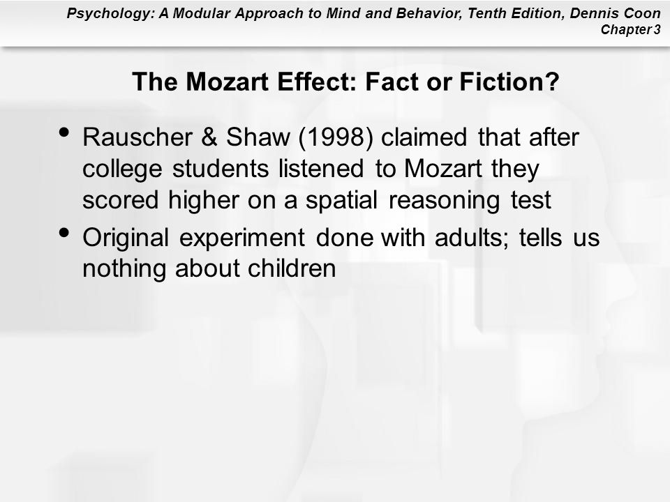The Mozart Effect: Fact or Fiction