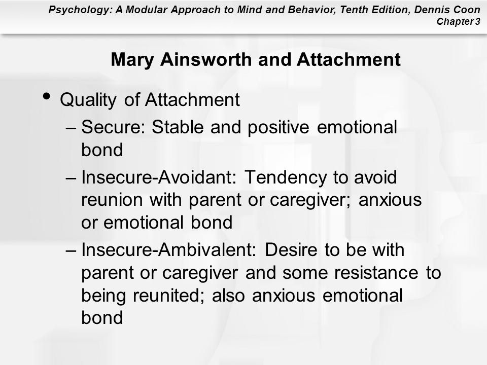 Mary Ainsworth and Attachment