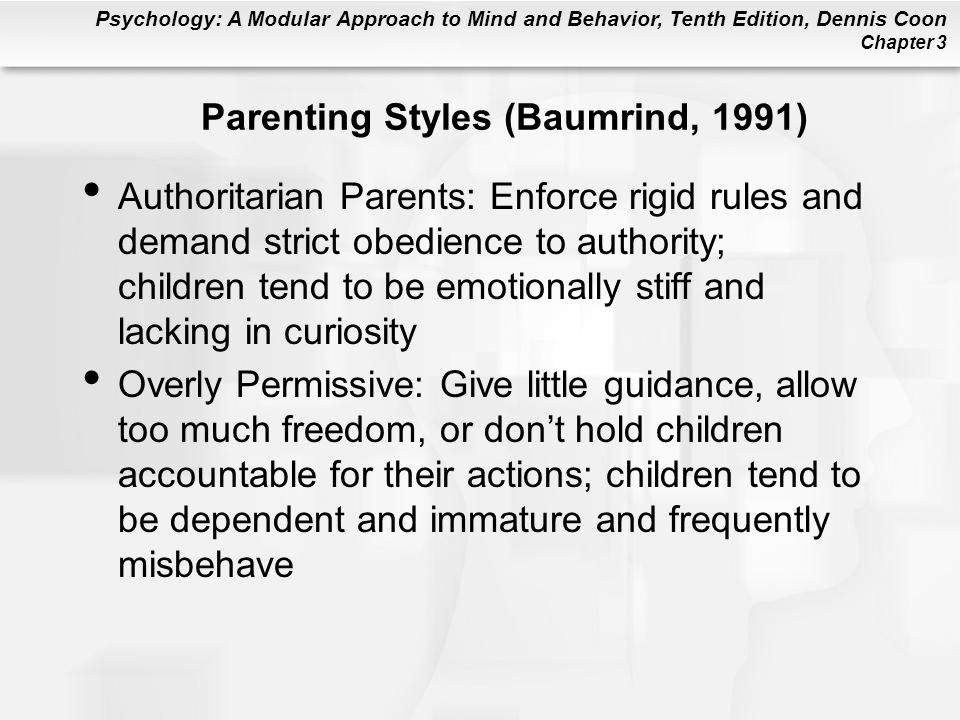 Parenting Styles (Baumrind, 1991)