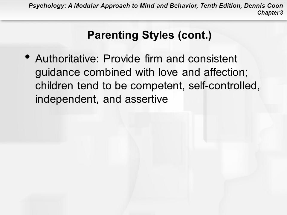 Parenting Styles (cont.)