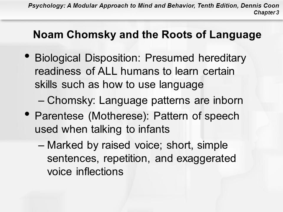 Noam Chomsky and the Roots of Language