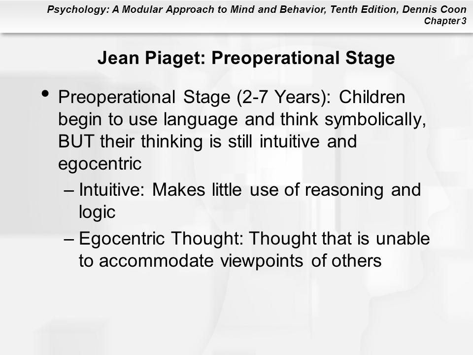 Jean Piaget: Preoperational Stage